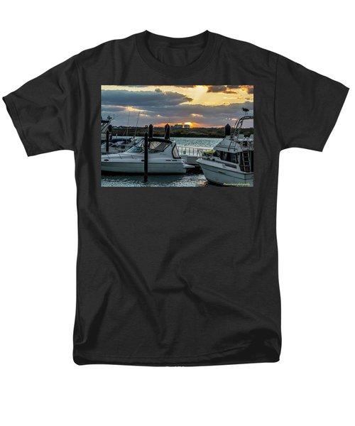 Fort Pierce Marina Men's T-Shirt  (Regular Fit) by Nance Larson