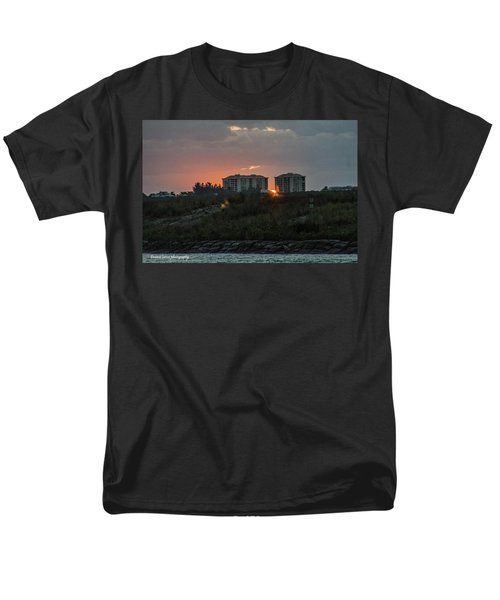 Fort Pierce Sunrise Men's T-Shirt  (Regular Fit) by Nance Larson