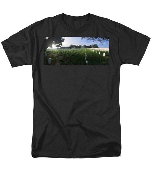 Men's T-Shirt  (Regular Fit) featuring the photograph Fort Rosecrans National Cemetery by Lynn Geoffroy