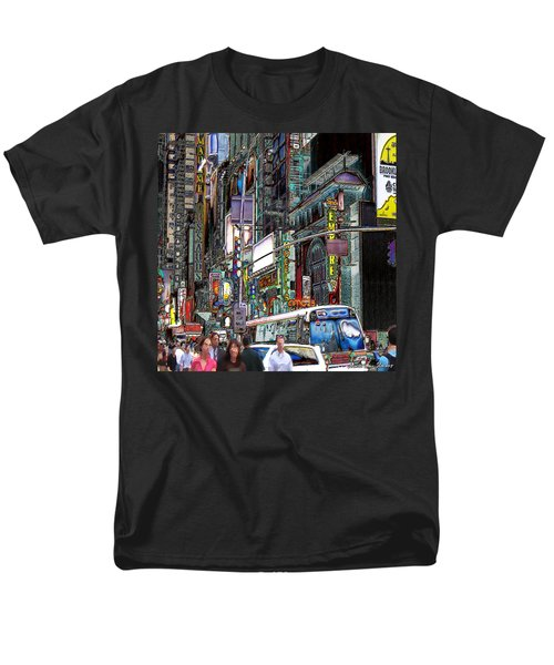 Men's T-Shirt  (Regular Fit) featuring the photograph Forty Second And Eighth Ave N Y C by Iowan Stone-Flowers