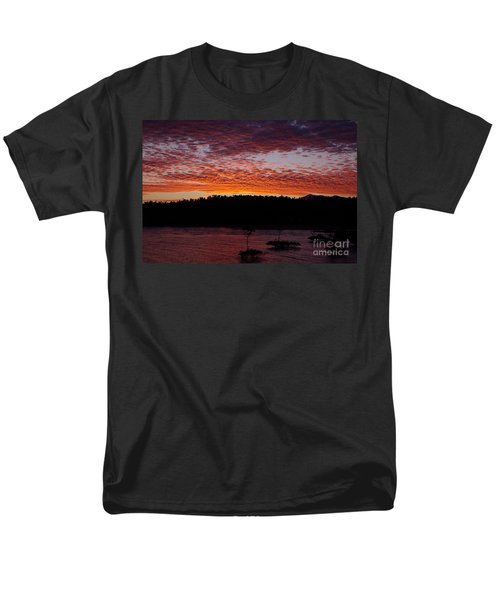 Men's T-Shirt  (Regular Fit) featuring the photograph Four Elements Sunset Sequence 2 Coconuts Qld by Kerryn Madsen - Pietsch