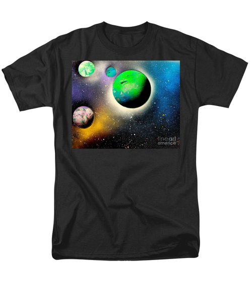 Four Planets 02 E Men's T-Shirt  (Regular Fit) by Greg Moores