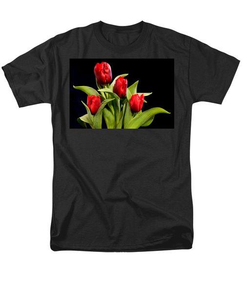 Four Tulips Men's T-Shirt  (Regular Fit)