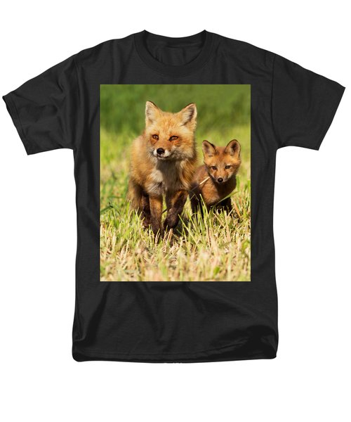 Fox Family Men's T-Shirt  (Regular Fit) by Mircea Costina Photography