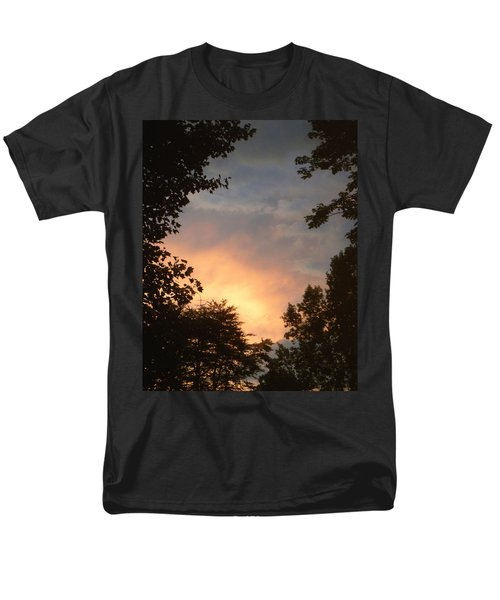 Men's T-Shirt  (Regular Fit) featuring the photograph Framed Fire In The Sky by Sandi OReilly