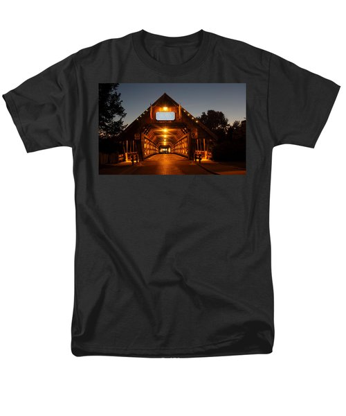 Frankenmuth Covered Bridge Men's T-Shirt  (Regular Fit) by Pat Cook