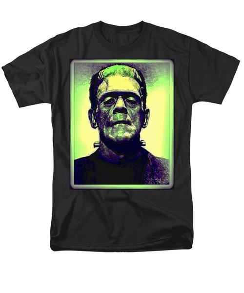 Frankenstein In Color Men's T-Shirt  (Regular Fit) by Joan  Minchak