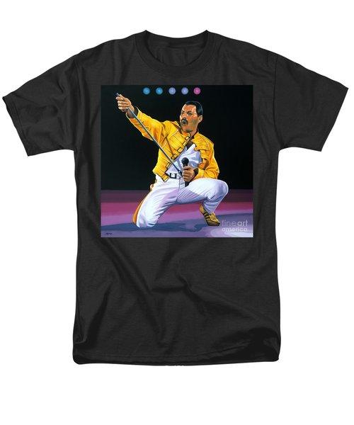 Freddie Mercury Live Men's T-Shirt  (Regular Fit) by Paul Meijering