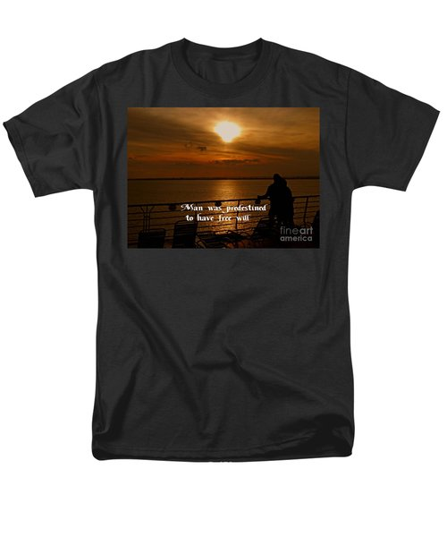 Free Will Men's T-Shirt  (Regular Fit) by Gary Wonning