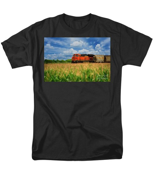 Freight Train Men's T-Shirt  (Regular Fit) by Kelly Wade