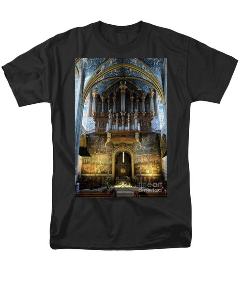Fresco Of The Last Judgement And Organ In Albi Cathedral Men's T-Shirt  (Regular Fit) by RicardMN Photography