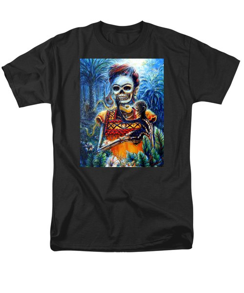 Frida In The Moonlight Garden Men's T-Shirt  (Regular Fit) by Heather Calderon