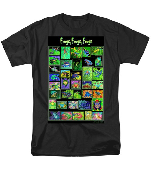 Frogs Poster Men's T-Shirt  (Regular Fit) by Nick Gustafson