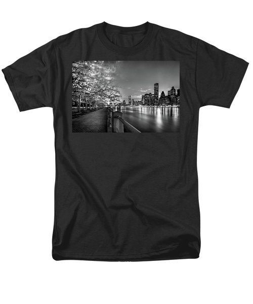 Front Row Roosevelt Island Men's T-Shirt  (Regular Fit) by Az Jackson