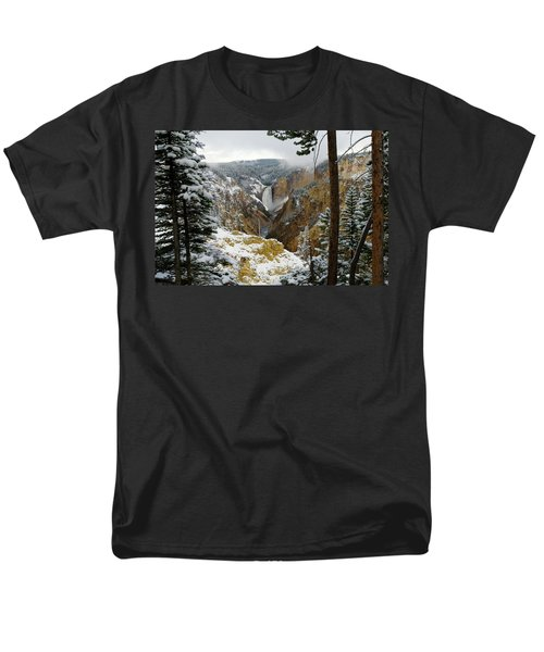Men's T-Shirt  (Regular Fit) featuring the photograph Frosted Canyon by Steve Stuller