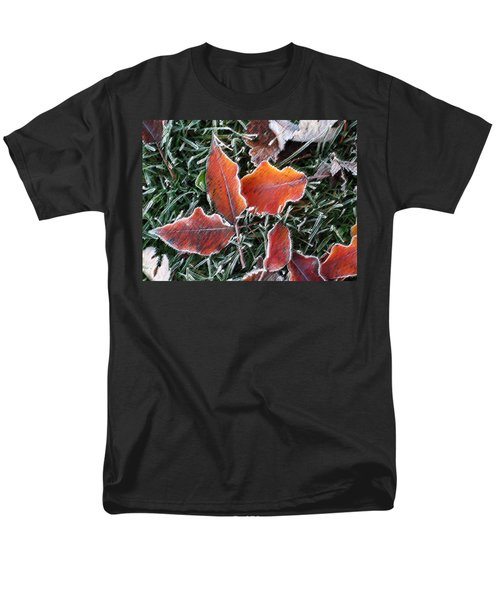 Frosted Leaves Men's T-Shirt  (Regular Fit) by Shari Jardina