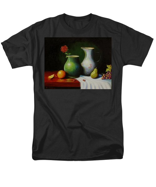 Men's T-Shirt  (Regular Fit) featuring the painting Fruit And Pots. by Gene Gregory