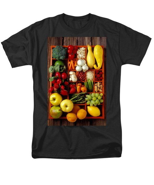 Fruits And Vegetables In Compartments Men's T-Shirt  (Regular Fit) by Garry Gay