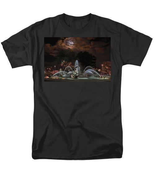 Full Moon At The Fountain Men's T-Shirt  (Regular Fit) by Lynn Sprowl