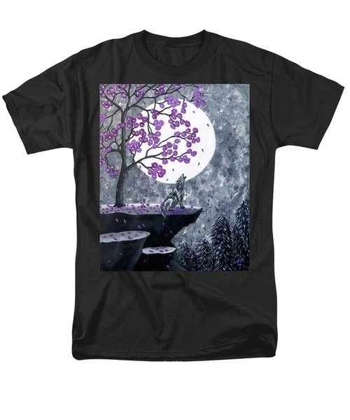 Men's T-Shirt  (Regular Fit) featuring the painting Full Moon Magic by Teresa Wing