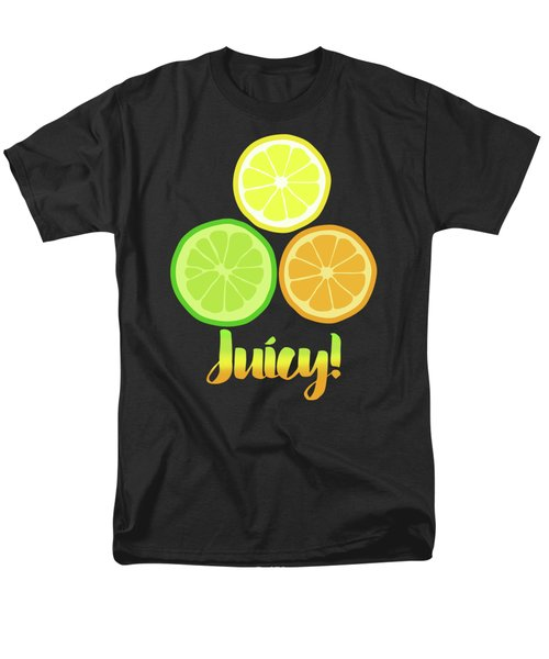 Fun Juicy Orange Lime Lemon Citrus Art Men's T-Shirt  (Regular Fit) by Tina Lavoie