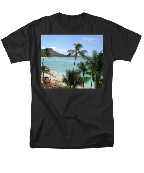 Fun Times On The Beach In Waikiki Men's T-Shirt  (Regular Fit) by Karen Nicholson