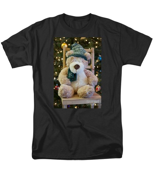 Men's T-Shirt  (Regular Fit) featuring the photograph Fuzzy Bear by Vinnie Oakes