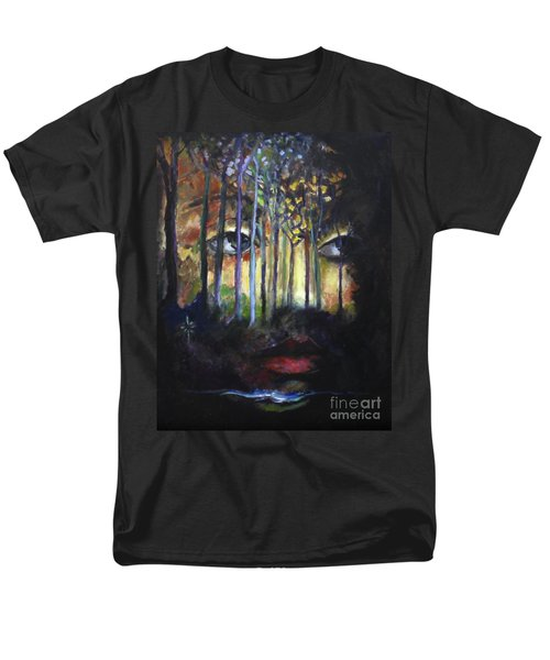 Men's T-Shirt  (Regular Fit) featuring the painting Gaia by Jodie Marie Anne Richardson Traugott          aka jm-ART