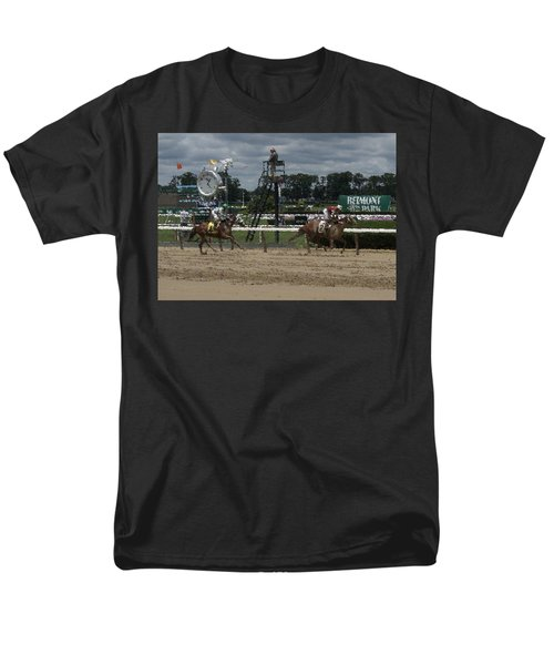 Men's T-Shirt  (Regular Fit) featuring the digital art Galloping Out Painting by  Newwwman