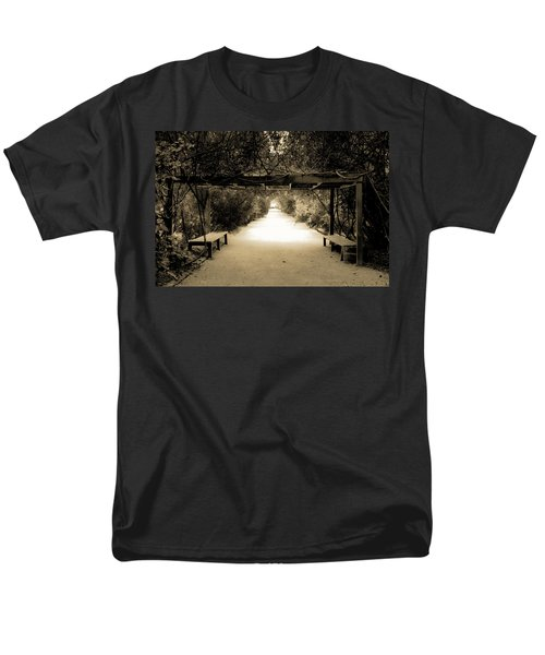 Garden Arbor In Sepia Men's T-Shirt  (Regular Fit) by DigiArt Diaries by Vicky B Fuller