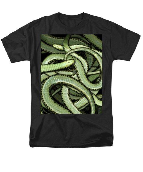 Garter Snakes Pattern Men's T-Shirt  (Regular Fit) by James Larkin