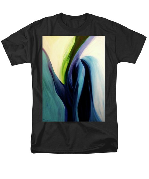 Men's T-Shirt  (Regular Fit) featuring the painting Gate To The Garden  By Paul Pucciarelli by Iconic Images Art Gallery David Pucciarelli