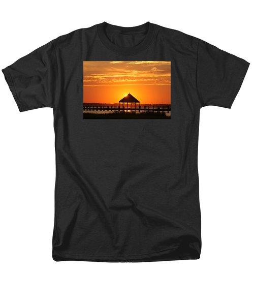 Men's T-Shirt  (Regular Fit) featuring the photograph Gazebo Sunset by Robert Banach