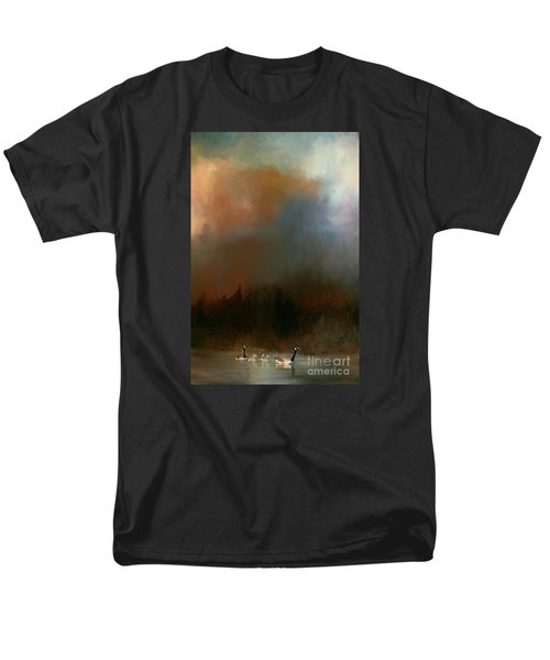 Men's T-Shirt  (Regular Fit) featuring the photograph Geese On A Nh Lake by Mim White