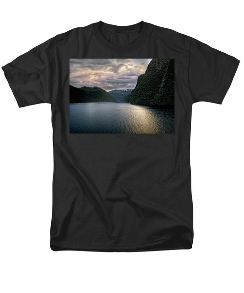 Men's T-Shirt  (Regular Fit) featuring the photograph Geiranger Fjord by Jim Hill