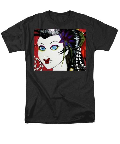 Geisha Graffiti Men's T-Shirt  (Regular Fit) by Nola Lee Kelsey