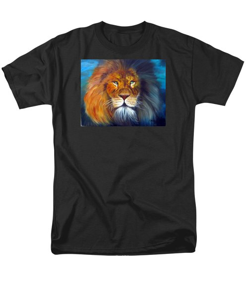 Men's T-Shirt  (Regular Fit) featuring the painting Gentle Lion King by LaVonne Hand