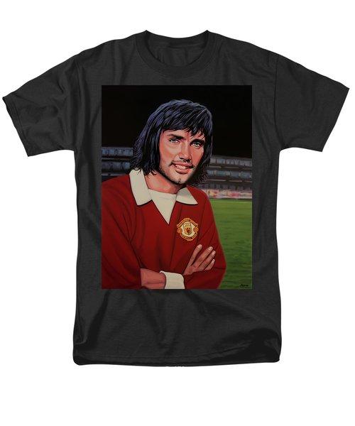 George Best Painting Men's T-Shirt  (Regular Fit) by Paul Meijering