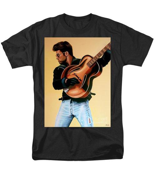 George Michael Painting Men's T-Shirt  (Regular Fit) by Paul Meijering
