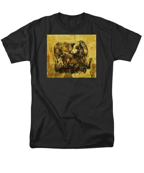 Men's T-Shirt  (Regular Fit) featuring the drawing German Fleckvieh Bull 21 by Larry Campbell