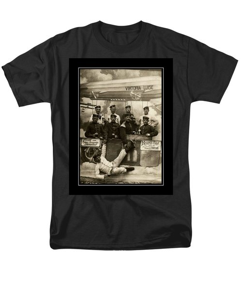 German Military Officers Zeppelin Crew 1913 Men's T-Shirt  (Regular Fit)