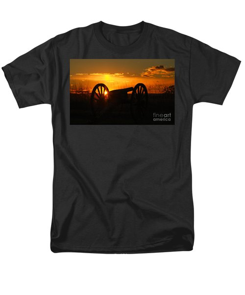 Gettysburg Cannon Sunset Men's T-Shirt  (Regular Fit) by Randy Steele