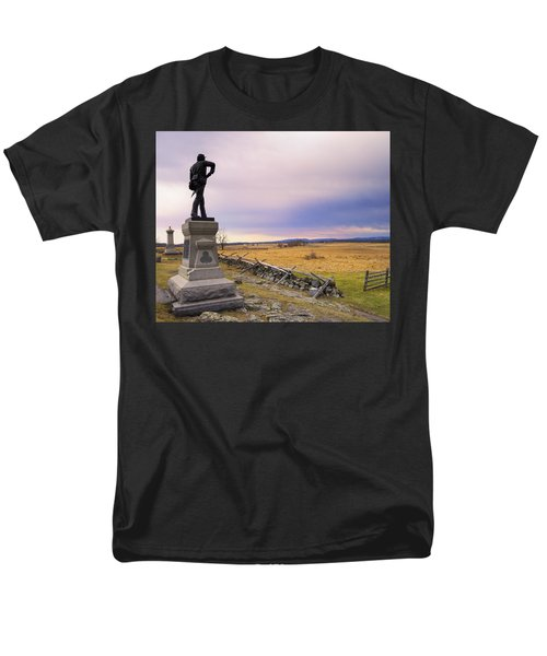 Men's T-Shirt  (Regular Fit) featuring the photograph Gettysburg Monument I by Marianne Campolongo