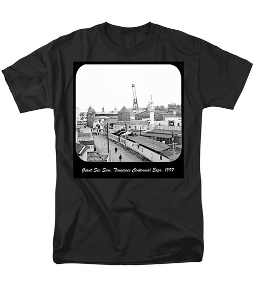 Men's T-Shirt  (Regular Fit) featuring the photograph Giant See Saw Tennessee Centennial Exposition 1897 by A Gurmankin
