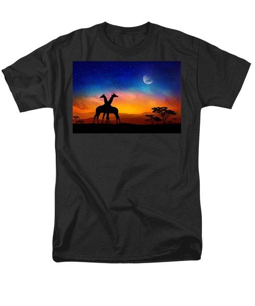 Giraffes Can Dance Men's T-Shirt  (Regular Fit) by Iryna Goodall