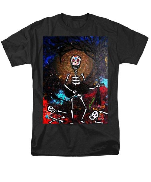 Men's T-Shirt  (Regular Fit) featuring the painting Gitarero by Pristine Cartera Turkus