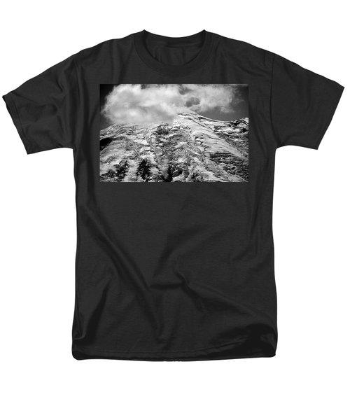 Men's T-Shirt  (Regular Fit) featuring the photograph Glacier On Mt Rainier by Lori Seaman