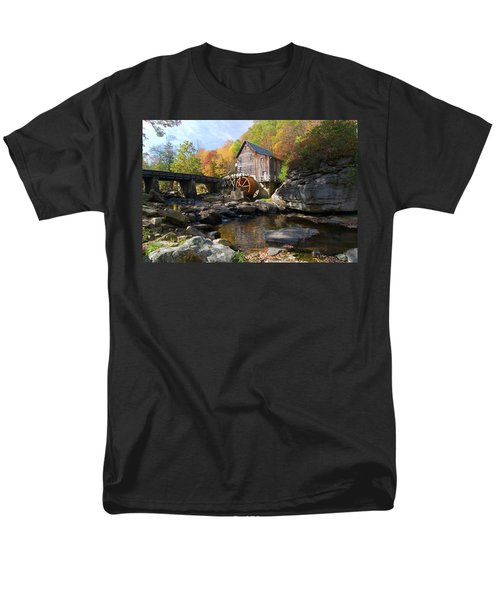 Men's T-Shirt  (Regular Fit) featuring the photograph Glade Creek Grist Mill by Steve Stuller