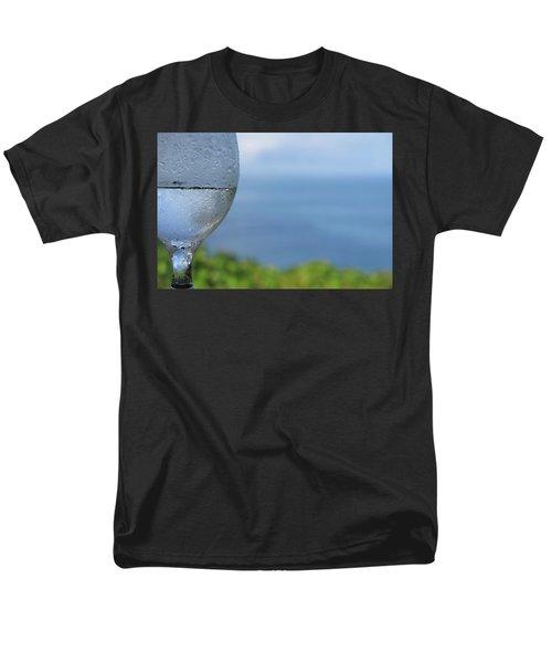Glass Half Full Men's T-Shirt  (Regular Fit) by JoAnn Lense