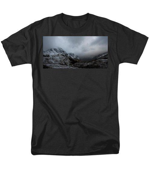 Men's T-Shirt  (Regular Fit) featuring the digital art Glencoe - Three Sisters by Pat Speirs